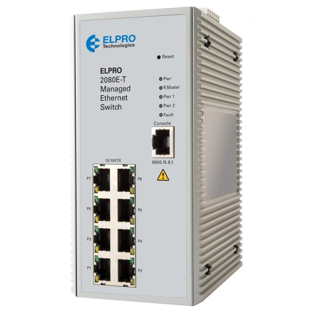 2080E-T 8-PORT MANAGED ETHERNET SWITCH